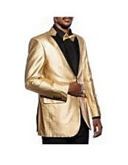 Gold Tuxedo Jacket Keeps Your Style Different