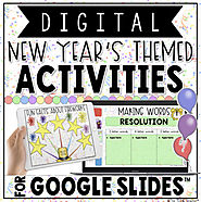 DIGITAL NEW YEAR'S THEMED ACTIVITIES IN GOOGLE SLIDES™ by The Techie Teacher