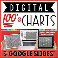 DIGITAL HUNDREDS CHARTS IN GOOGLE SLIDES™ by The Techie Teacher | TpT