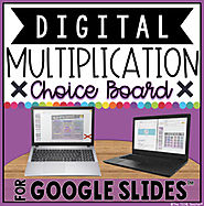 DIGITAL MULTIPLICATION CHOICE BOARD IN GOOGLE SLIDES™ by The Techie Teacher