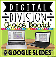 DIGITAL DIVISION CHOICE BOARD IN GOOGLE SLIDES™ by The Techie Teacher