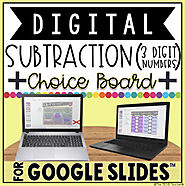 DIGITAL CHOICE BOARD FOR SUBTRACTION IN GOOGLE SLIDES™ by The Techie Teacher