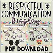 RESPECTFUL COMMUNICATION LANGUAGE CLASSROOM DISPLAY by The Techie Teacher