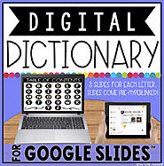 DIGITAL DICTIONARY FOR GOOGLE SLIDES™ by The Techie Teacher | TpT