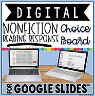 DIGITAL NONFICTION READING RESPONSE CHOICE BOARD FOR GOOGLE DRIVE™