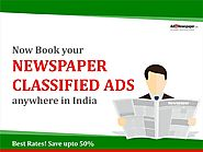 Book Newspaper classified Ads In India