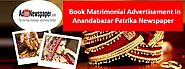 Anandabazar Patrika Matrimonial Classified Advertisement will help you find your desired partner - Adinnewspaper Blog