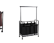 Top Rated Heavy Duty Canvas Laundry Sorter Carts for Home Use -