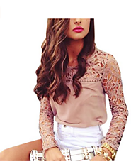 Embroidered Long Sleeve Tops In Casual Blouse Style!