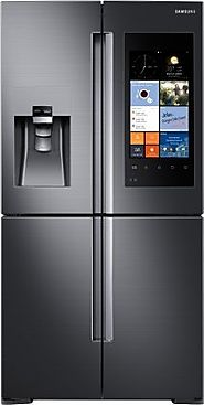 RF22K9581SG Counter Depth French Door Refrigerator with 22.1 cu. ft. Total Capacity, in Black Stainless Steel