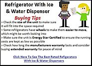 Best Refrigerator With Ice And Water Dispenser Reviews - Tackk