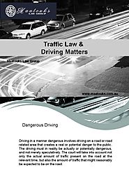 Traffic Law & Driving Matters