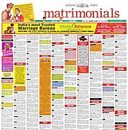 Matrimonial Classified Ad booking for Times of India can help you find your life-partner | Myadvtcorner