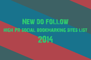 New do follow high PR social bookmarking sites list 2014
