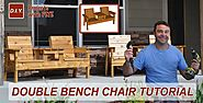How to Make a Double Chair Bench | DIY Patio Furniture