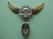 Steampunk Vintage Eagle brooch with Vintage watch case