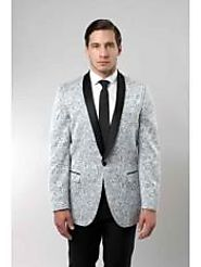 Feel Timeless Joy With Mens Paisley Blazer