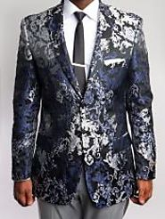 Unique And Elegant Floral Tuxedo Jacket For Men