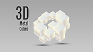 3D metal cubes Prezi template with shapes
