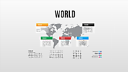 World Prezi template with World map background