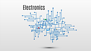 Prezi template electronics with 3D background