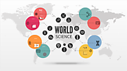 World science Prezi template with science symbols