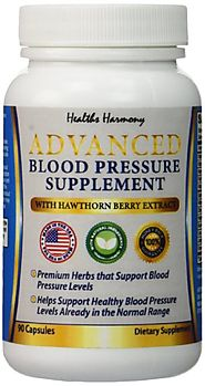 Best Blood Pressure Support Supplement - Premium Natural Herbs, Vitamins & Berries - Including High Dosage of Haw...