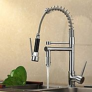 Contemporary High-Pressure Chrome Finish Kitchen Faucet