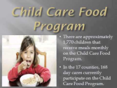 ETHRA Child Care Food Program