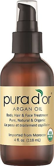 PURA D'OR 100% Pure & USDA Organic Moroccan Argan Oil