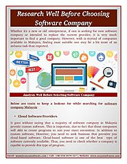 Before Selecting Software Company Malaysia
