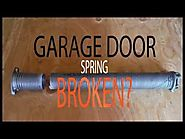 Broken Garage Door Spring Repair - Red Deer Alberta