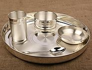 Buy Pure Silver Thali Dinner Set Online India