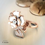 Jane White Rose Ring