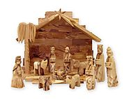 Olive Wood Nativity Set - Christmas Decorating Fun