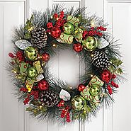 DIY Pre Lit Artificial Christmas Wreaths Ideas - Christmas Decorating Fun
