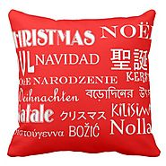 Red Christmas Throw Pillows - Christmas Decorating Fun