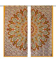 Yellow and green hippie tapestry wall curtain