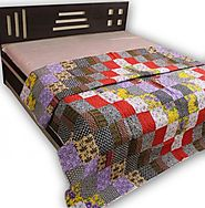 Multi Color Indian Patchwork Quilts