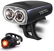 Cycle Torch Night Owl Bike Light USB Rechargeable - Perfect Urban Commuter Bicycle Light Set - Bright TAIL LIGHT Incl...
