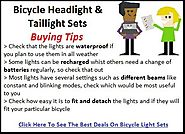 Best Bicycle Headlight And Taillight Sets Reviews - Tackk