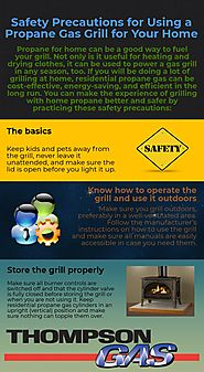 Safety Precautions for Using a Propane Gas Grill for Your Home