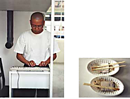 Matthew Ngui, You can order and eat delicious poh-piah, 1997, installation with computer, keyboard and monitor, pipes...