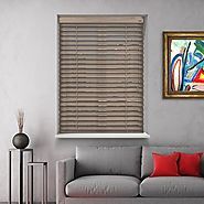 HERITAGE ASHEN 12V BATTERY POWERED ELECTRIC WOODEN BLINDS