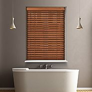 FLORENCE 12V BATTERY POWERED ELECTRIC WOODEN BLINDS-Controlissblinds
