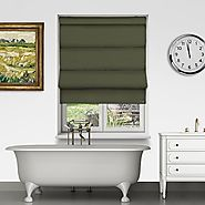 Controliss Asti Artichoke battery powered roman blind