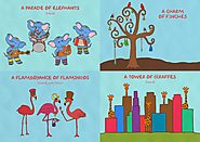 A Parade of Elephants, A Charm of Finches, A Flamboyance of Flamingos, A Tower of Giraffes