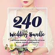 Wedding bundle: lightroom presets, photoshop actions and acr presets (50% off)