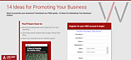 PRWeb: 14 Ideas for Promoting Your Business