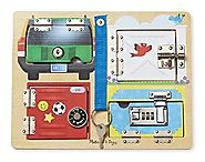 Melissa & Doug Locks & Latches Board - Ages 3-5
